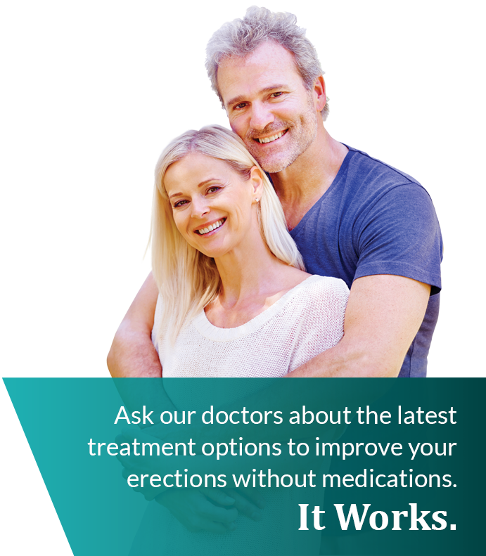Ask our doctors about the latest treatment options to improve your erections without medications. It Works.